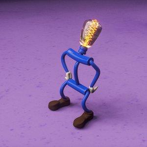 3D little bulb model