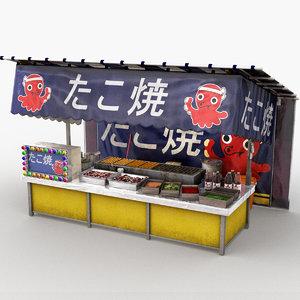japanese street stall 0001 model