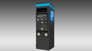 digital parking meter 3D model