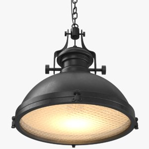 3D real industrial chandelier light model