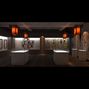 chinese teahouse 3D model