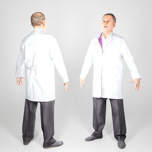 3D animation ready man uniform