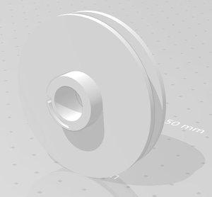 3D starter wheel brushcutter