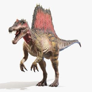 spinosaurus spines 3D model