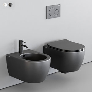 toilet moon wall-hung bidet 3D