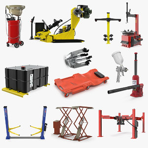 garage equipment 5 3D