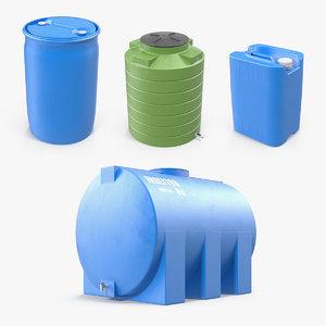 plastic water storage tank model
