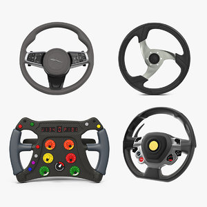 3D model steering wheels 2