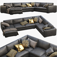 Modena Taper Arm U-Sofa Chaise Sectional Sofa
