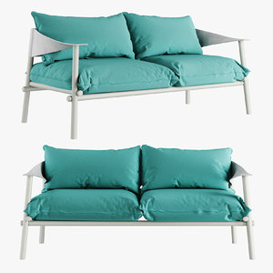 3D model terramare seats sofa