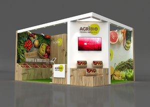 stall height 366 cm 3D model