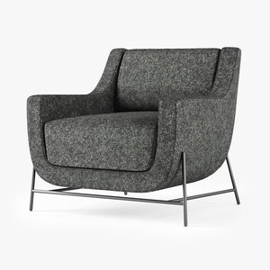 hbf ski lounge chair 3D