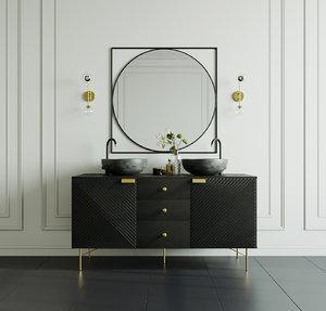 3D vanity unit model