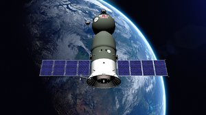 3D model soyuz spacecraft space