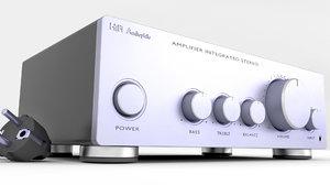 hi-fi amplifier 3D model
