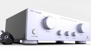 3D model hi-fi amplifier