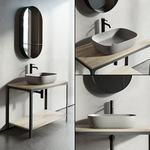 3D single vanity able unit