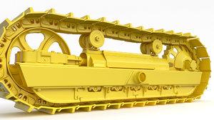 track bulldozer excavator 3D model