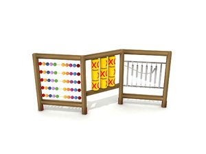 3D wood abacus bell play