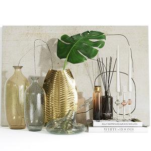 3D zara home decorative set