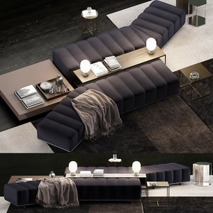 minotti freeman lounge 3D model