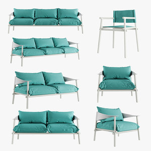 terramare chair seats sofa 3D