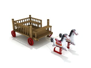 wood horse rocker phaeton model