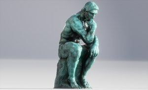 3D model statue tinker