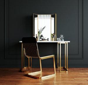 table chair mirror 3D model