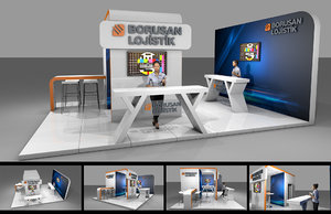 exhibition stand 3D