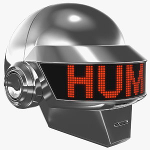 3D daft punk thomas helmet model