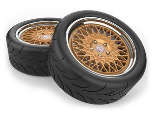 3D model hre 501 wheel tire