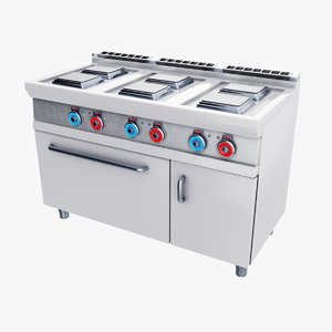 3D professional stove cabinets
