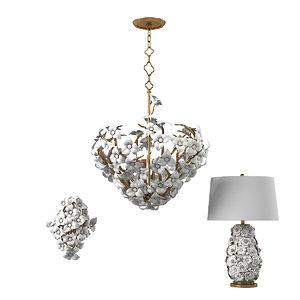 3D cobett lighting lily model