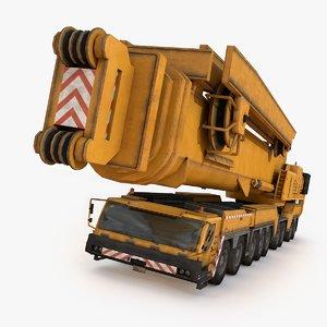 3D industrial mobile crane