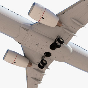 commercial airplane 3D model