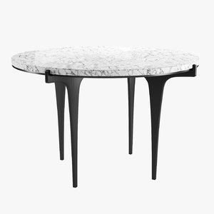 3D prong dining table model
