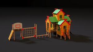 3D children complex russian hut