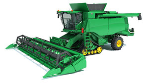tracked combine harvester model