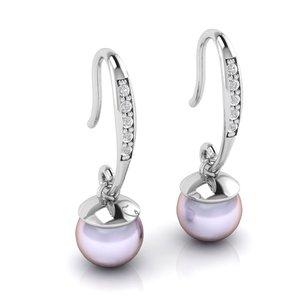 beautiful pearl earring model