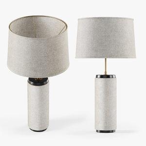 heyward table lamp 3D model