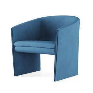 tacchini curve armchair 3D model