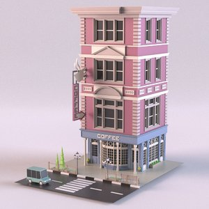 coffee shop 03 3D model