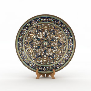 traditional hand plate 3D model