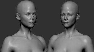 3D female basemesh character