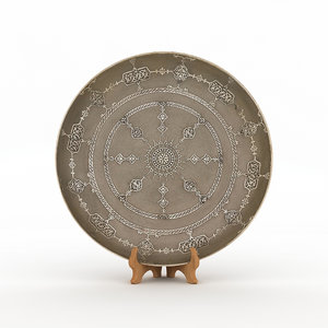 3D traditional hand plate model