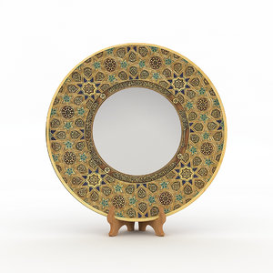 3D model traditional hand plate