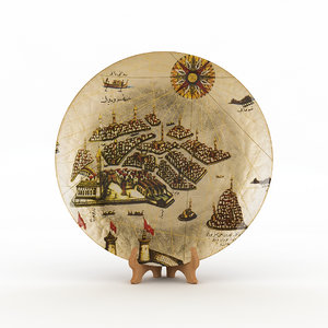 3D traditional hand plate