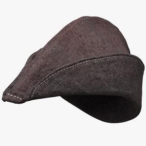 medieval archer cap 3D