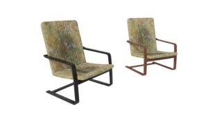 old damaged polish armchair 3D model